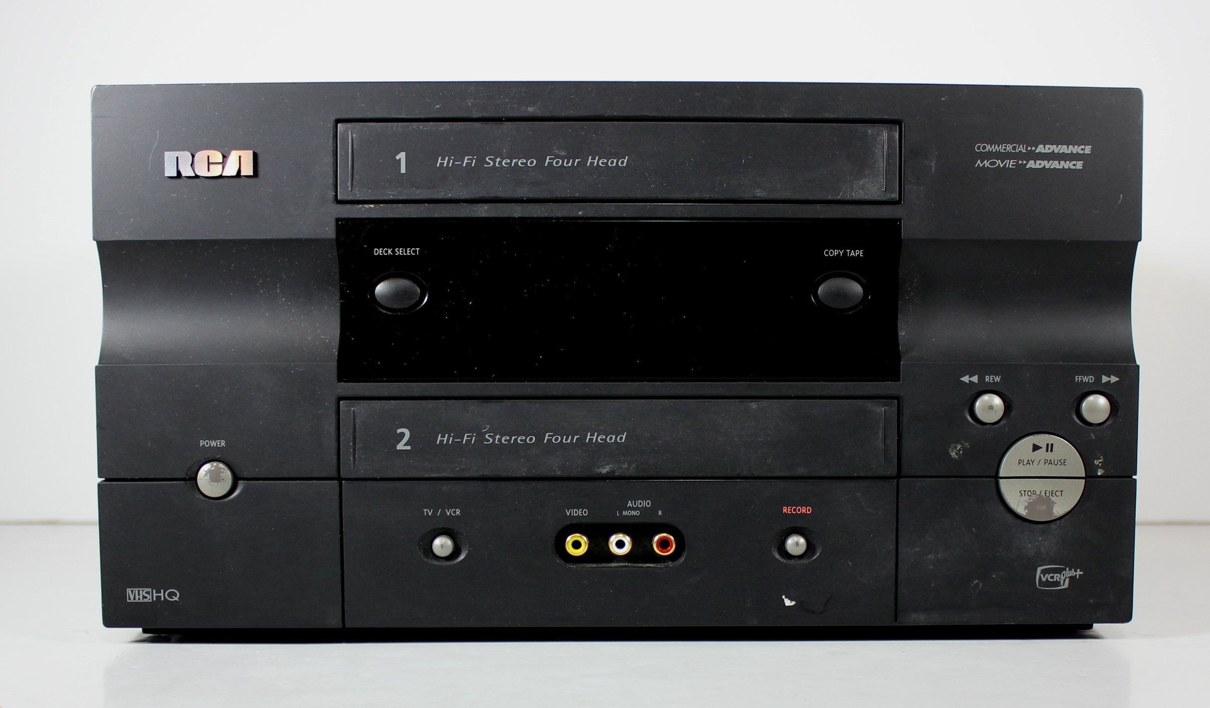 Rca Vrd120hf Vcr Double Cassette Video Recorder Player Rca Cassette Recorder Cassette