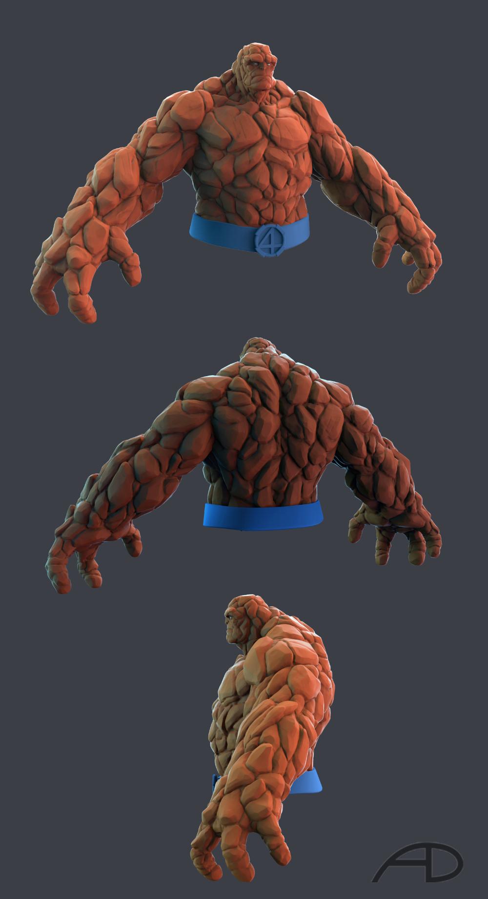 Artstation The Thing Aaron Dey In 2021 Marvel Statues Superhero Art Fantastic Four Marvel