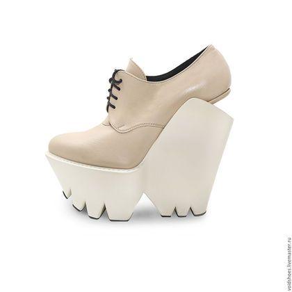 Leather shoes   Обувь ручной работы. Ярмарка Мастеров - ручная работа.  Купить Ботильоны SNOTTI 8ab824f34a2