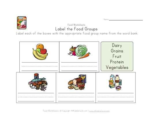 Label Food Groups Group Meals Food Lessons Toy Story Party Decorations Food group worksheets