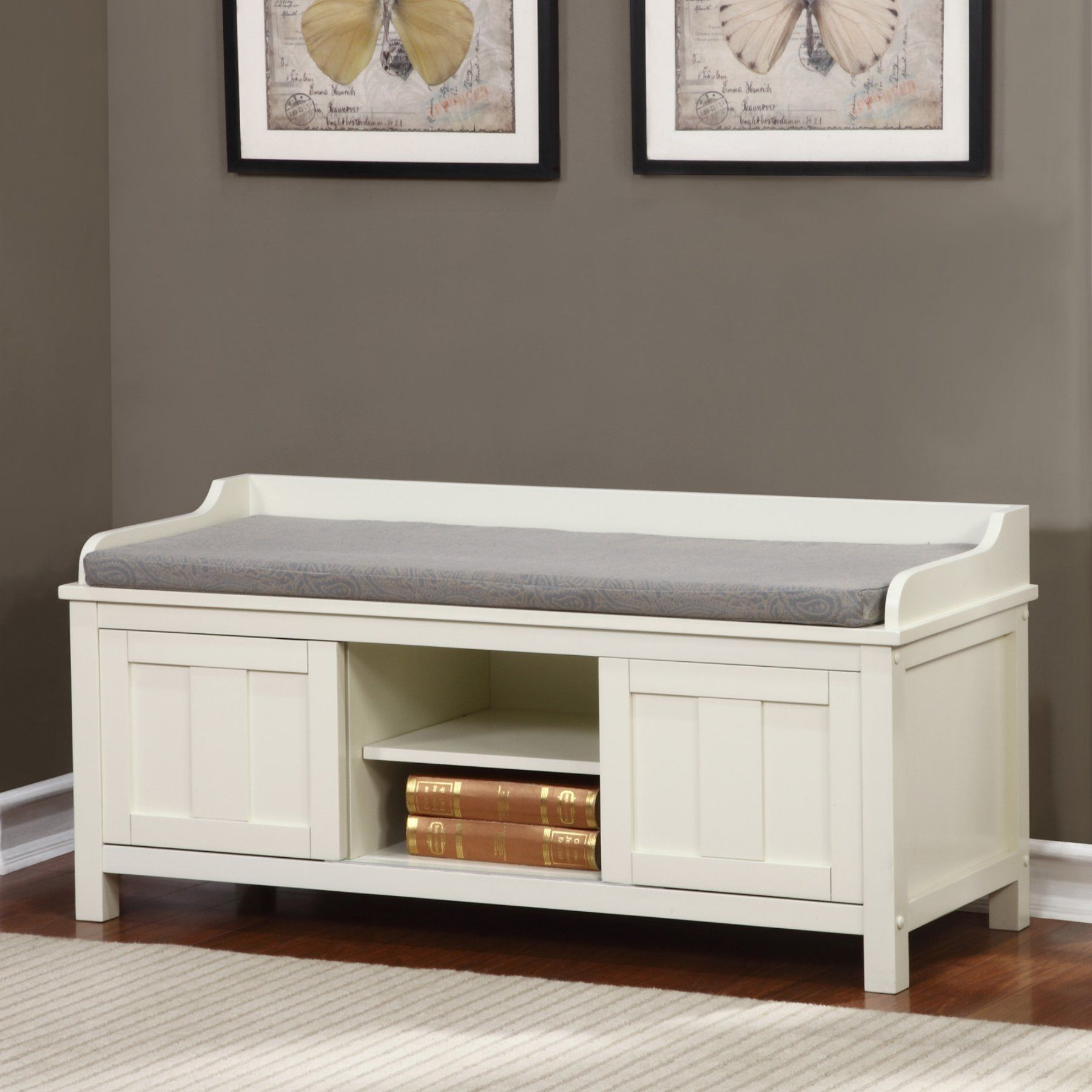 Linon Lakeville Indoor Storage Bench - 840212WHT01U