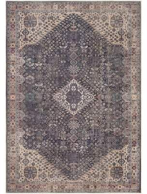World Menagerie Mya Distressed Traditional Brown/Tan Area Rug World Menagerie