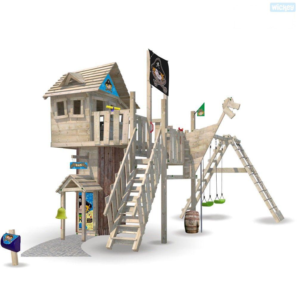 Baumhaus Wickey Prime Neverland Ohne Turborutsche Baumhaus Spielturm Kletterturm