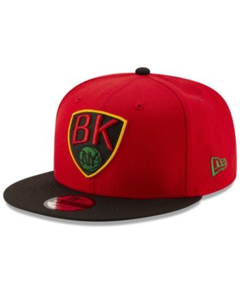 online retailer c8eab f9716 New Era Brooklyn Nets Light City Combo 9FIFTY Snapback Cap - Red Black  Adjustable