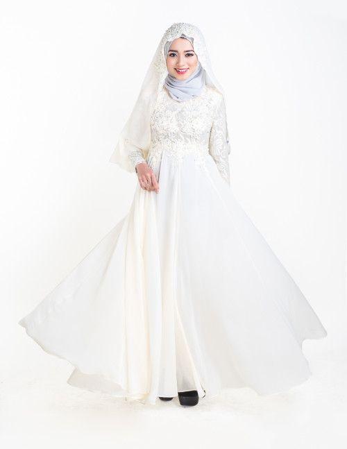 Esmeralda Wedding Dress - White Malay Wedding Dress #muslimwedding ...