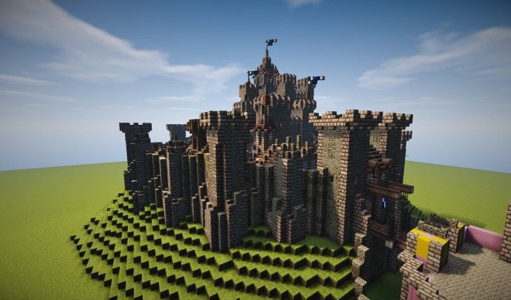 Medieval Defensible Realistic Castle Minecraft Project  U2026