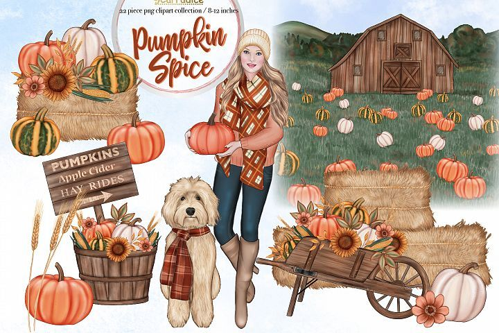 Pumpkin Spice - Autumn clipart collection | Clip art ...