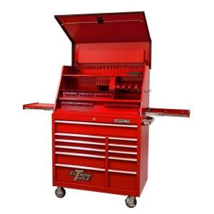 Extreme Tools 41 In 11 Drawer Tool Chest And Cabinet Combo In Red Pwsrc4129txrd The Home Depot Tool Chest Portable Workstation Tool Storage