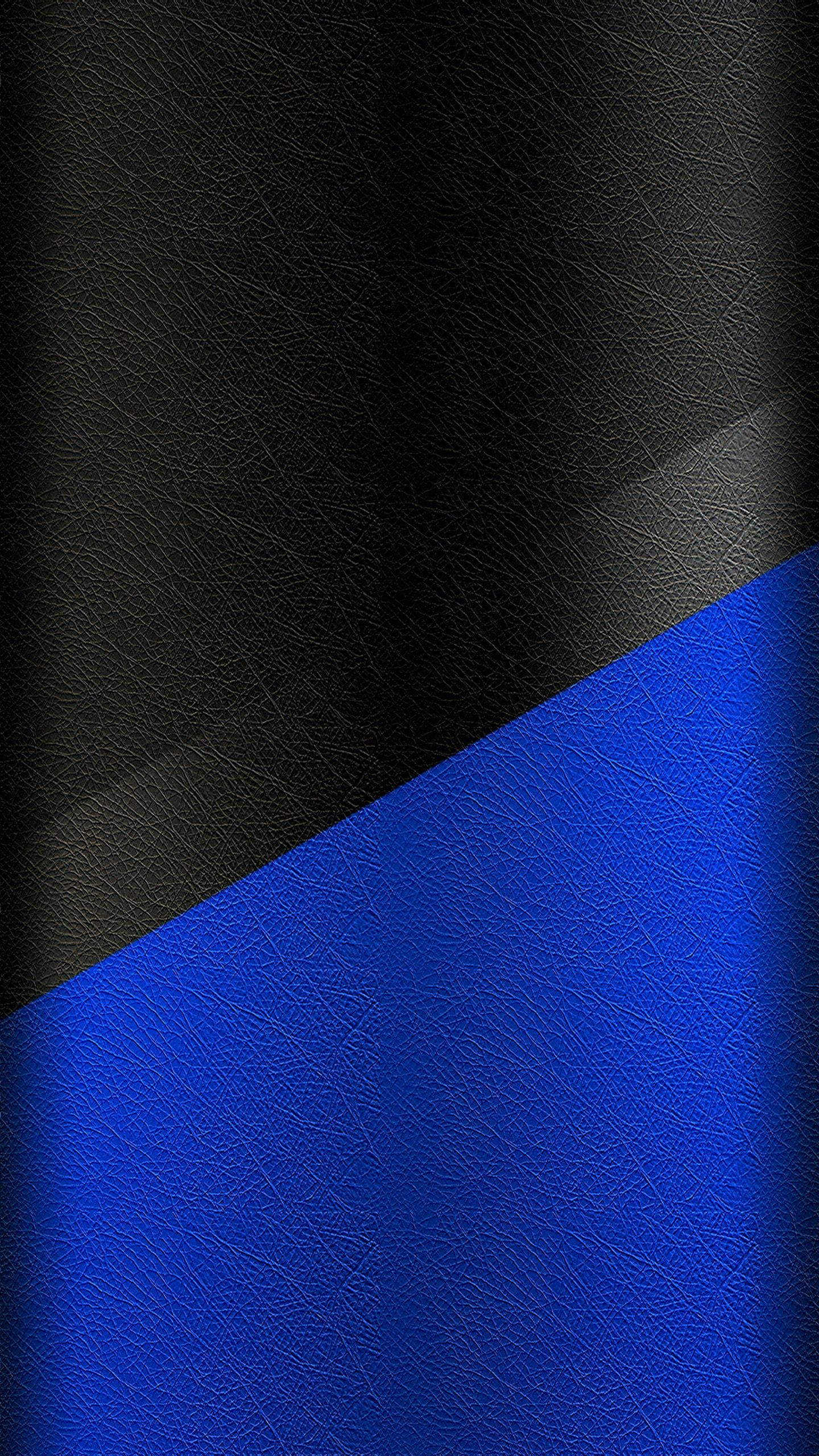 Dark S7 Edge Wallpaper 02 Black and Blue Leather Pattern
