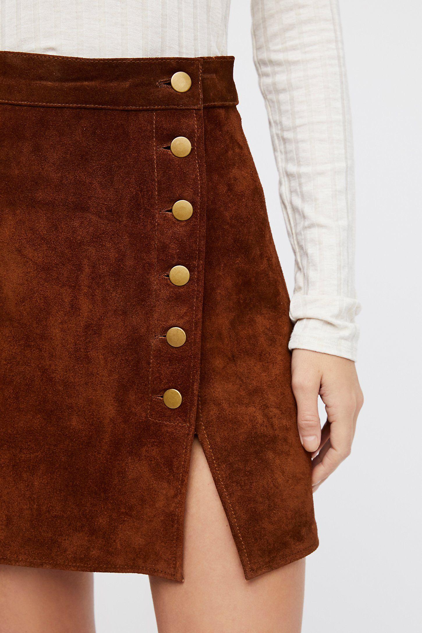 f68b3d9220fd Understated Suede Mini Skirt en 2019 | faldas | Moda estilo, Faldas ...