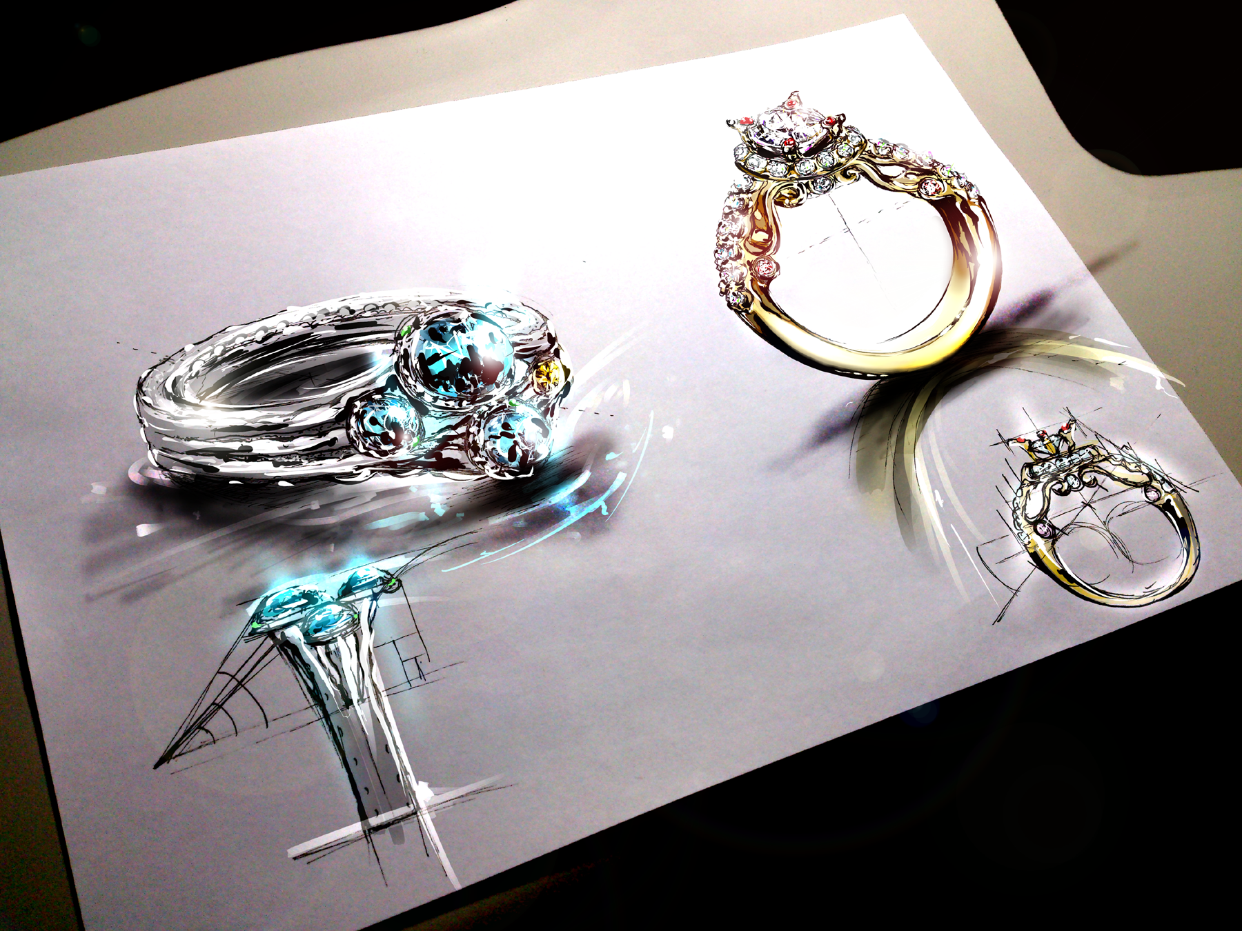 Ring Design sketch Sketches Pinterest Ring designs Ring and