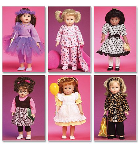 M6005 Pjs 18 Inch Doll Clothes Pattern American Girl Doll Clothes Patterns Doll Clothes Patterns