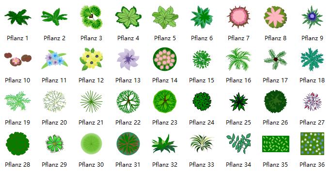 Symbole Fur Gartengestaltung Pflanzen Planer Gartengestaltung Einfach Zeichnen