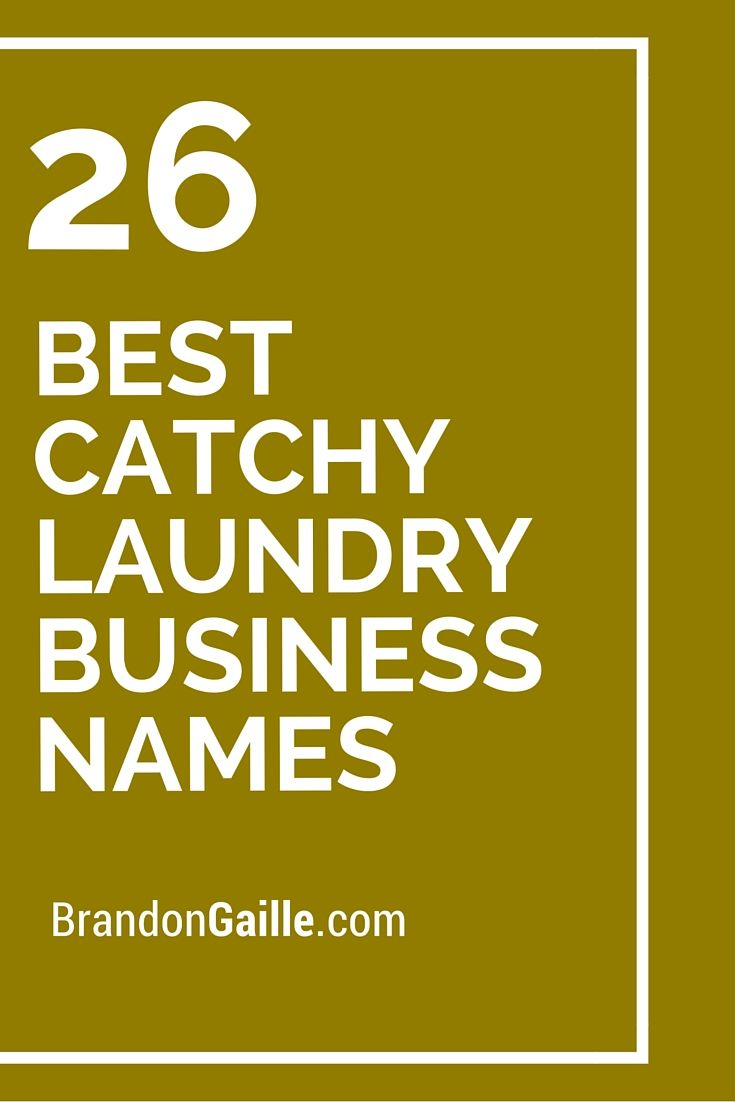 26 Best Catchy Laundry Business Names