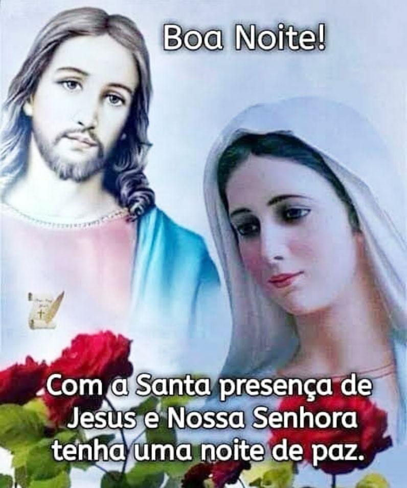 Com a Santa presença de Jesus e Nossa Senhora   Mundo Mensagens