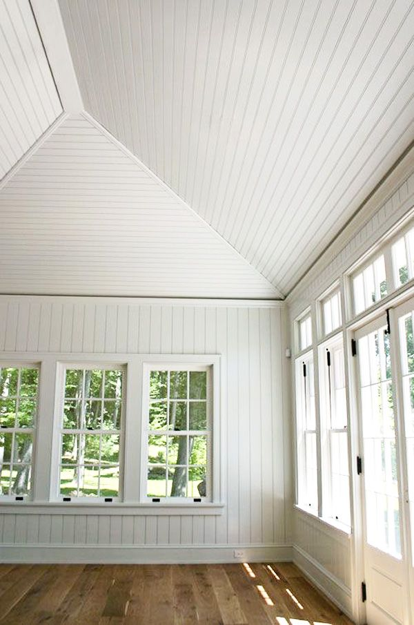 Beadboard Ceiling Project Sunroom Decorating Vaulted Ceiling Home