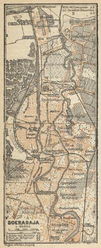 1914 Surabaya Historical Map Historical Maps Map Surabaya