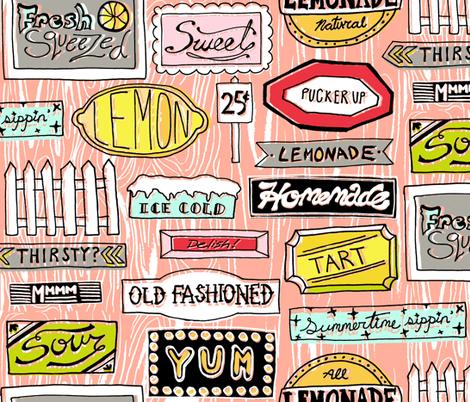 Roadside Lemonade fabric by graceful on Spoonflower - custom fabric