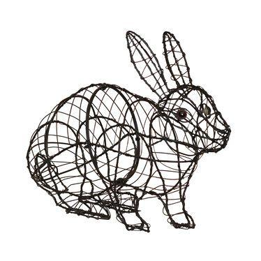 Rabbit Topiary Frame Black powder-coated steel frame • 17\
