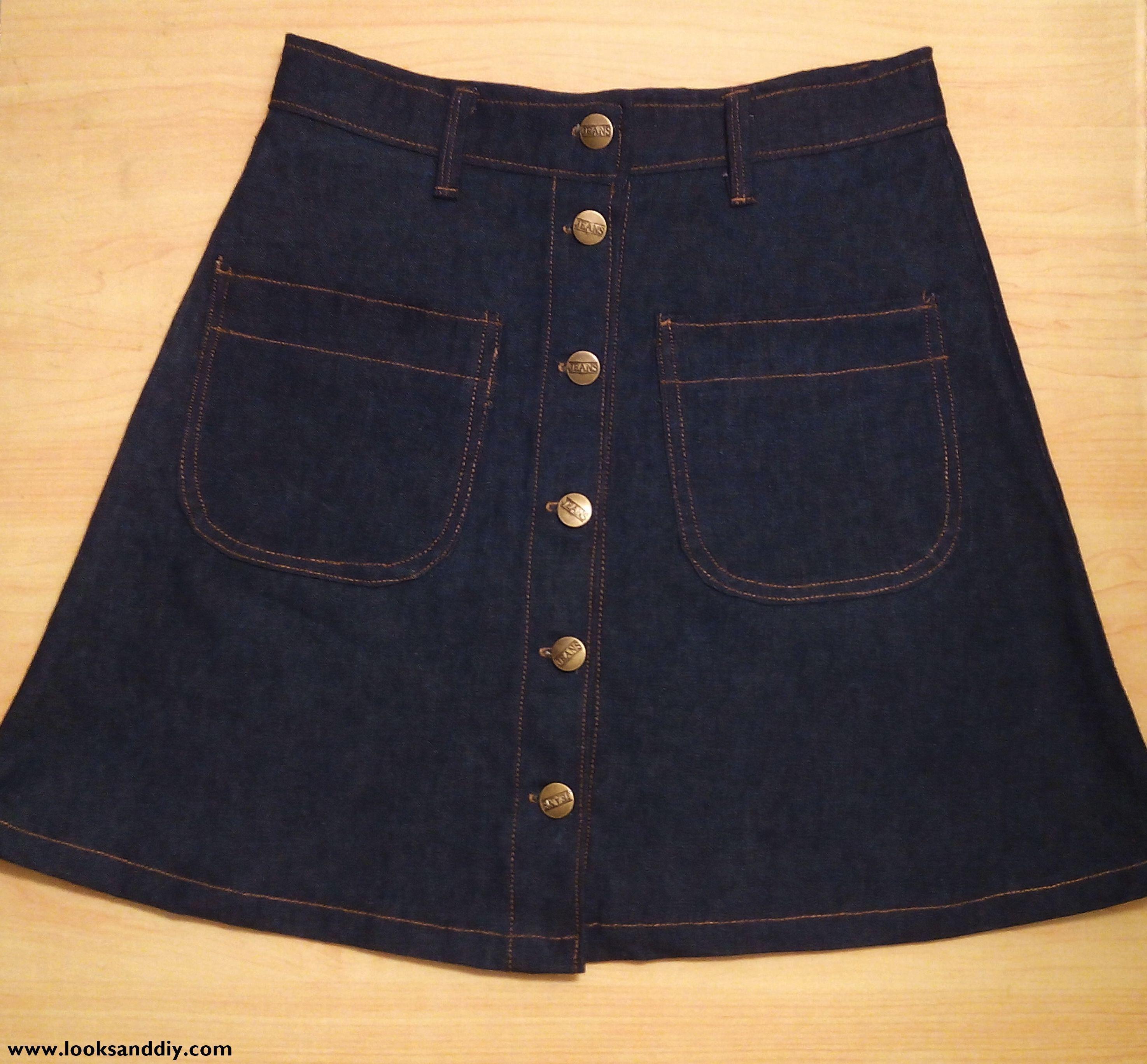 28afbad45 DIY ~ Falda con botones | Moda | Faldas con botones, Faldas, Como ...