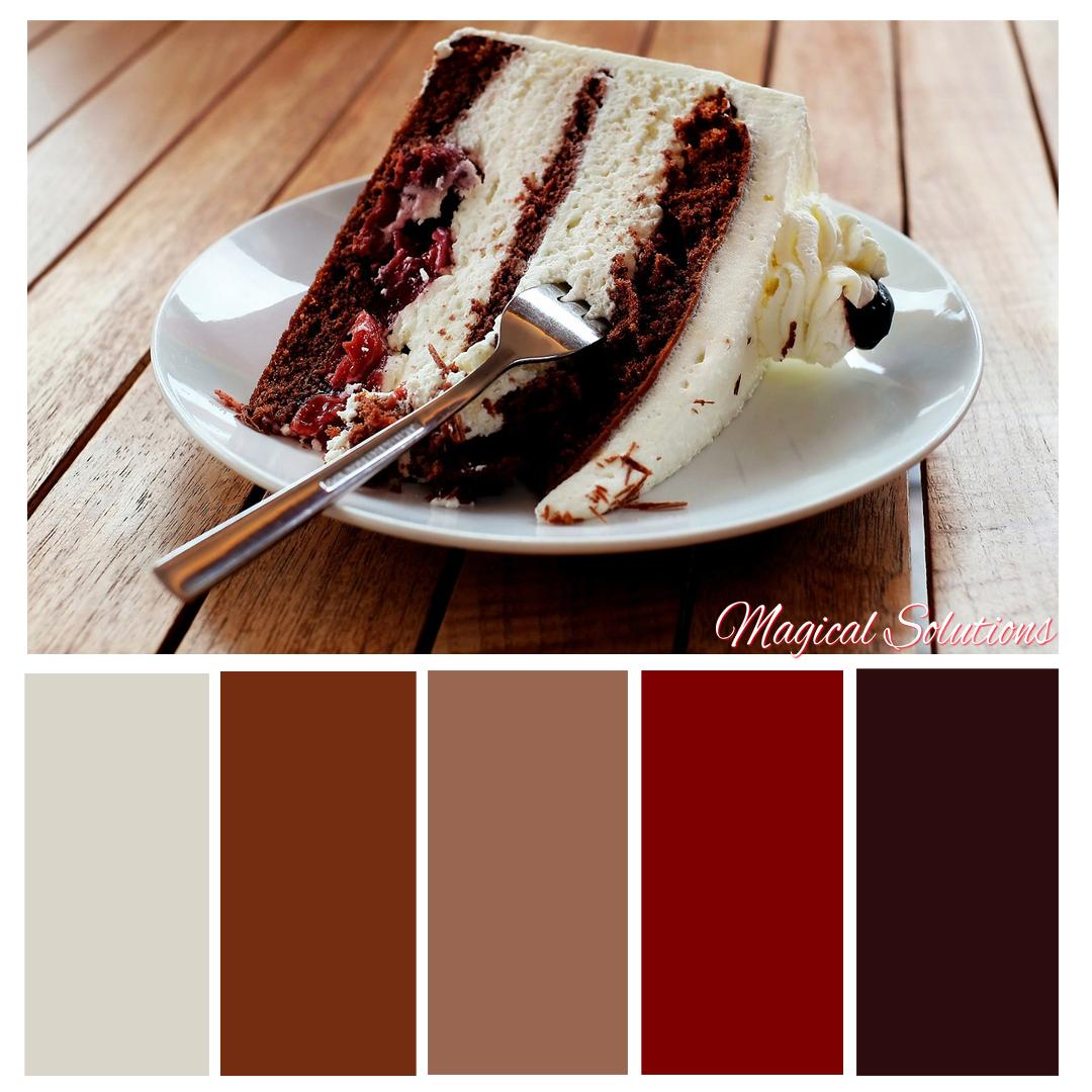 Black Forest Cake Color Scheme