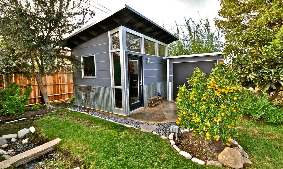 Shelterlogic Shed Garage and Shed Contemporary with Art Studio