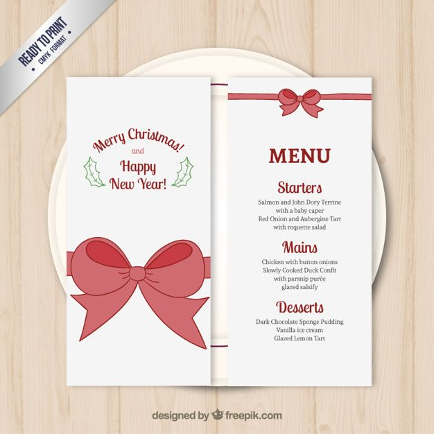 Christmas Menu Template Free Vector  La Casbah    Menu