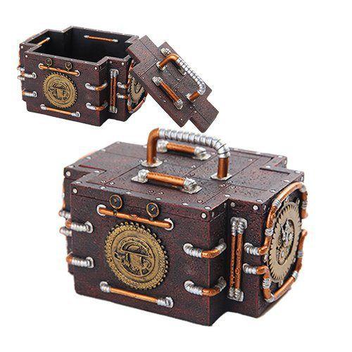 Steampunk Jewelry Box http://steampunkstyling.com/blog/steampunk-accessories/steampunk-jewelry-box/