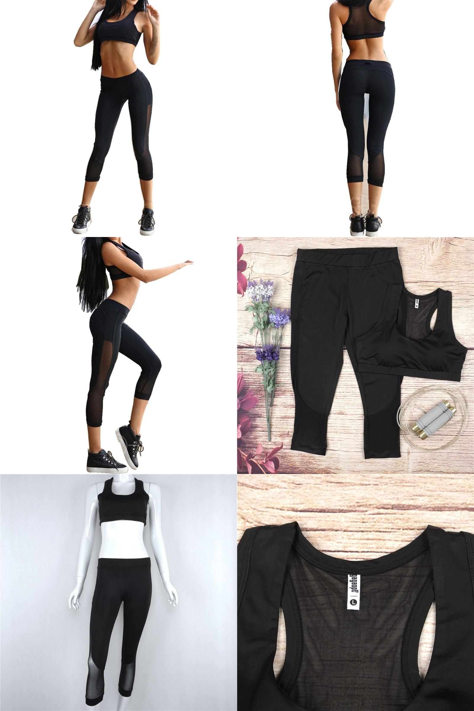 Women s yoga sets sport suit workout clothes female fitness sports -  Visit To Buy Women Yoga Sets Bra Pants Fitness Workout Clothing And Women S