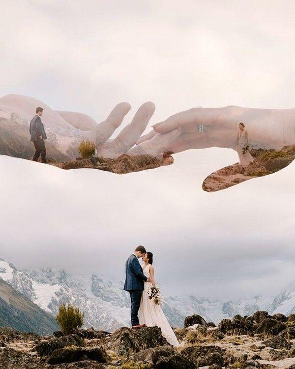 18 ideas para fotos de boda con doble exposición – inspiración de boda – #dop …