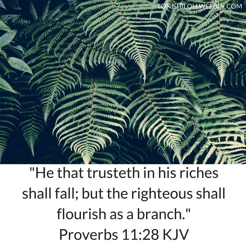 Proverbs 11:28 KJV