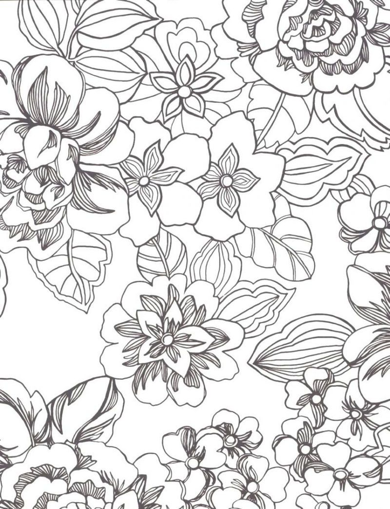 Flower Print Coloring Pages For Adults in 2020 | Flower coloring pages,  Mandala coloring pages, Printable flower coloring pages