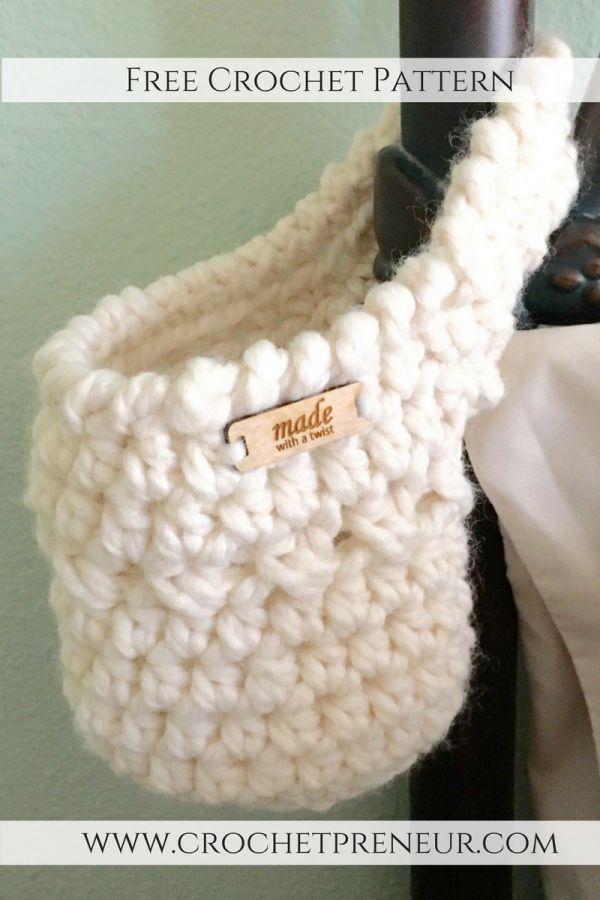 Free Crochet Pattern: The Hanging Basket | Ganchillo, Trapillo y Tejido