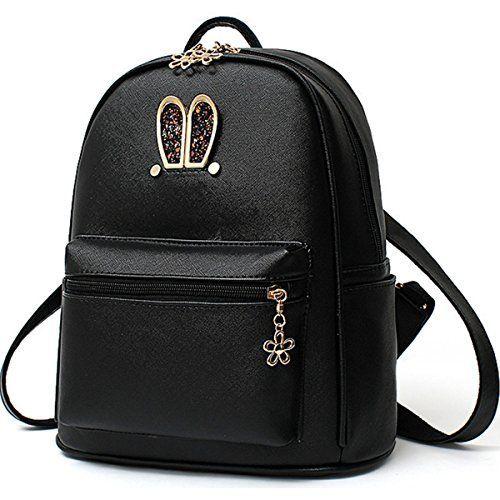 08e0a27b81 Wink Kangaroo Stylish Girls Ladies PU Leather Backpack Purse Shoulder Bag  School Travel Daypack