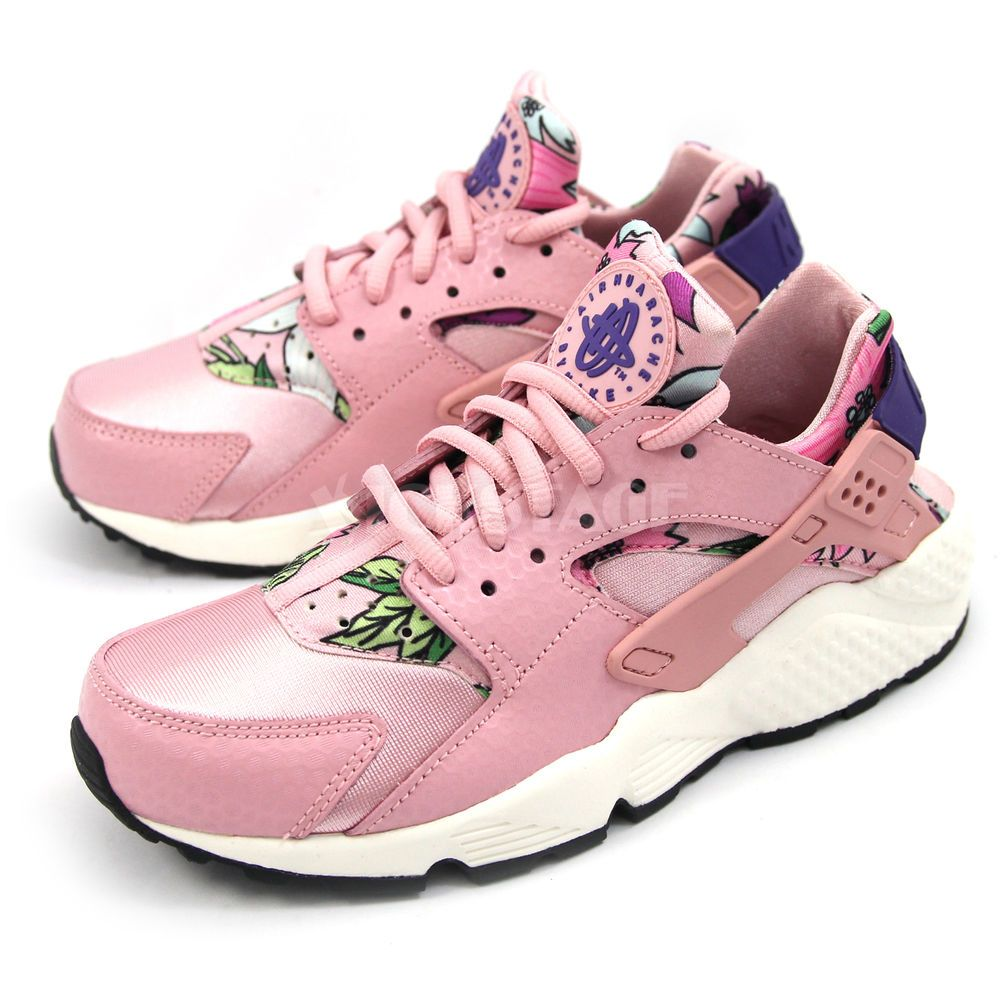 d3b09b95e2537 NIKE Wmns Womens Air Huarache Run Print Aloha Pack Pink White Shoes  725076-600  Nike  AuthenticSneaker