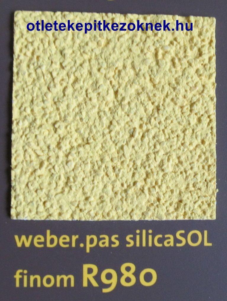 weber.pas silicaSOL vékonyvakolat