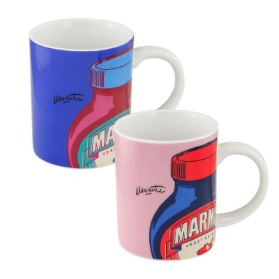 Marmite Set of 2 Mugs: Pink and Lilac   Past Times £9.00 #Marmite ...