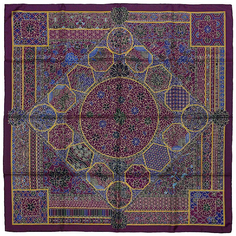 NIB Auth Hermes Paris COLLECTIONS IMPERIALES Silk Scarf Foulard BASCHET  90cm  HERMS  ShawlWrap 5701abd82f0