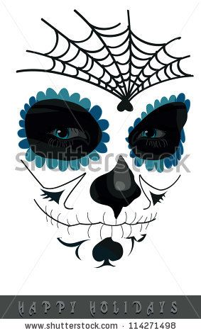 Google Image Result for http://image.shutterstock.com/display_pic_with_logo/930223/114271498/stock-vector-sugar-skull-girl-face-day-of-the-dead-114271498.jpg