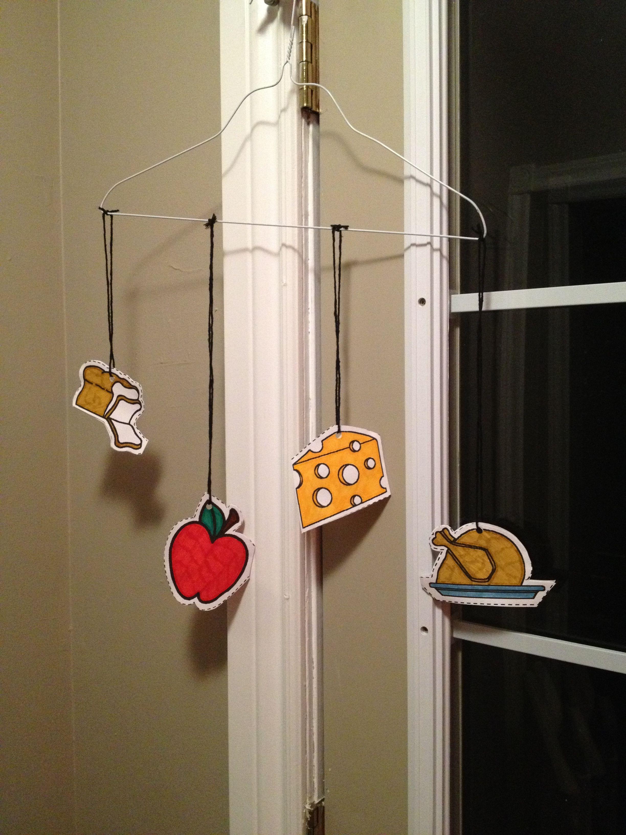 Food group nutrition mobile http://www.dltk-kids.com/crafts ...