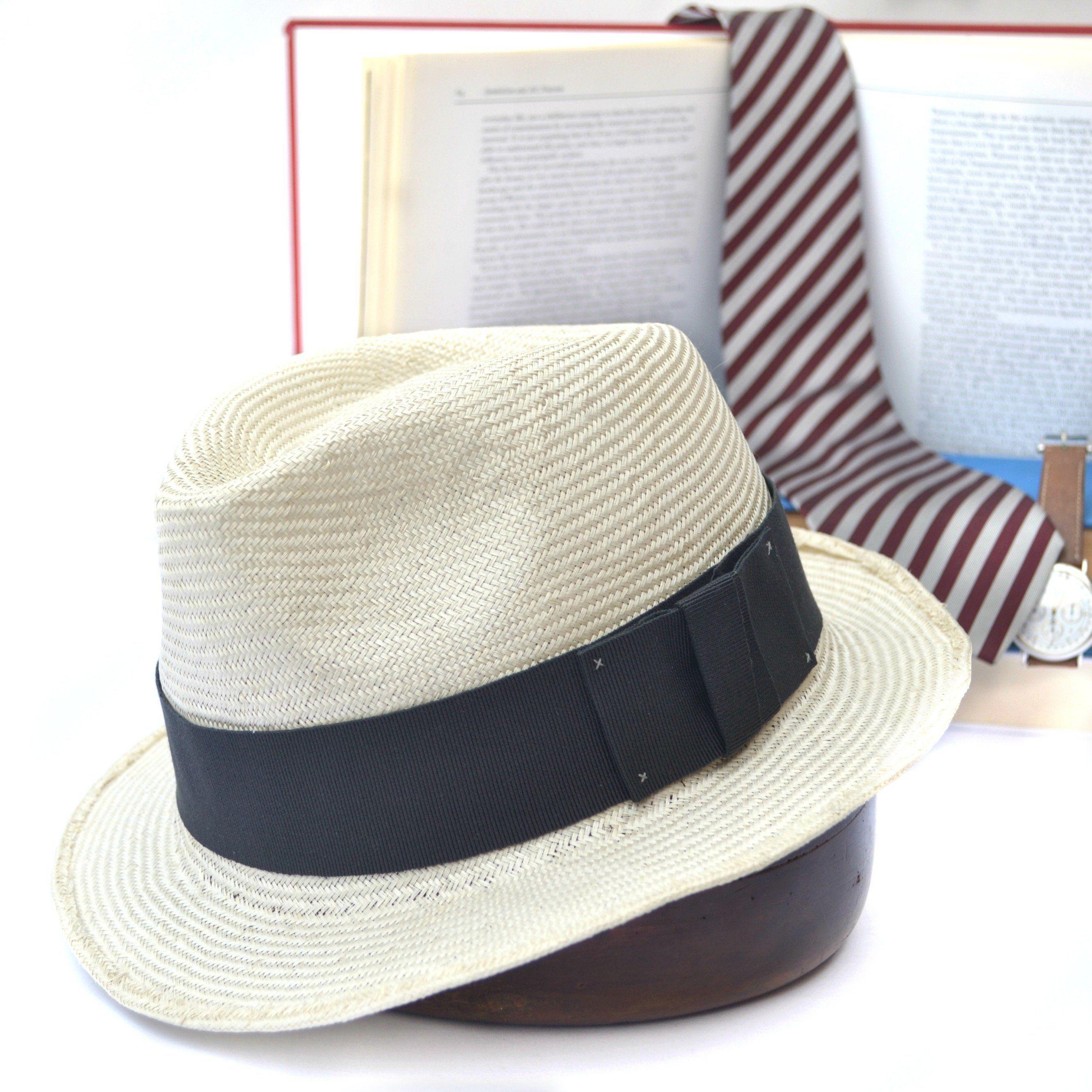 d3b14d748 Men straw sun hat, fedora small brim, white cream in 2019 ...