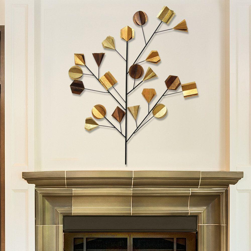 Stratton home decor metallic metal tree wall decor multicolor