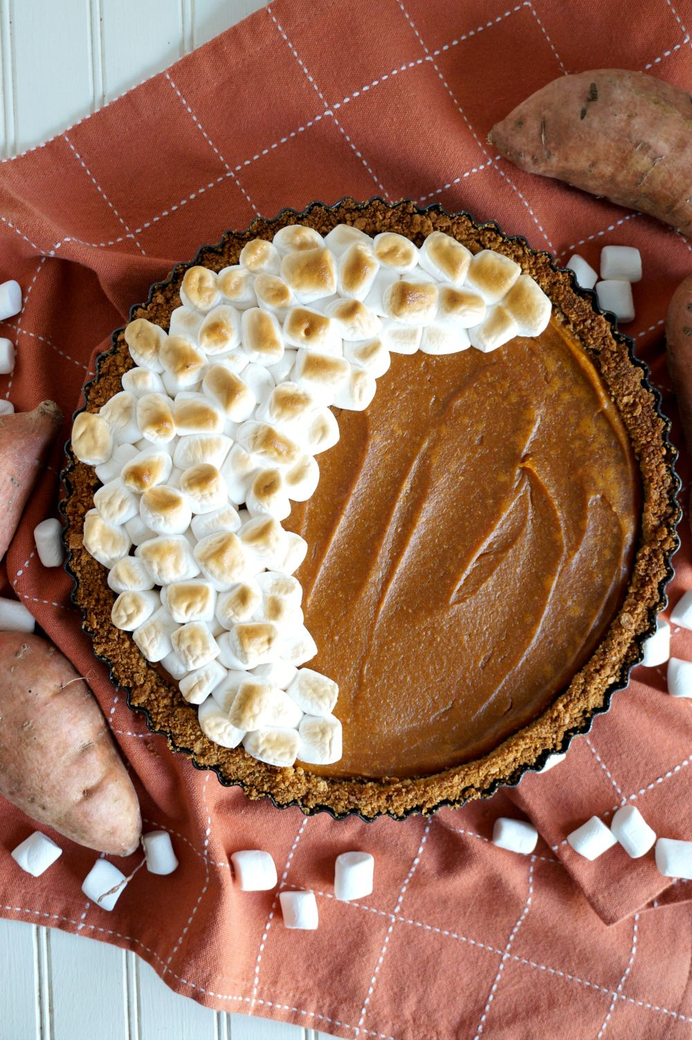 vegan marshmallow sweet potato tart | The Baking Fairy