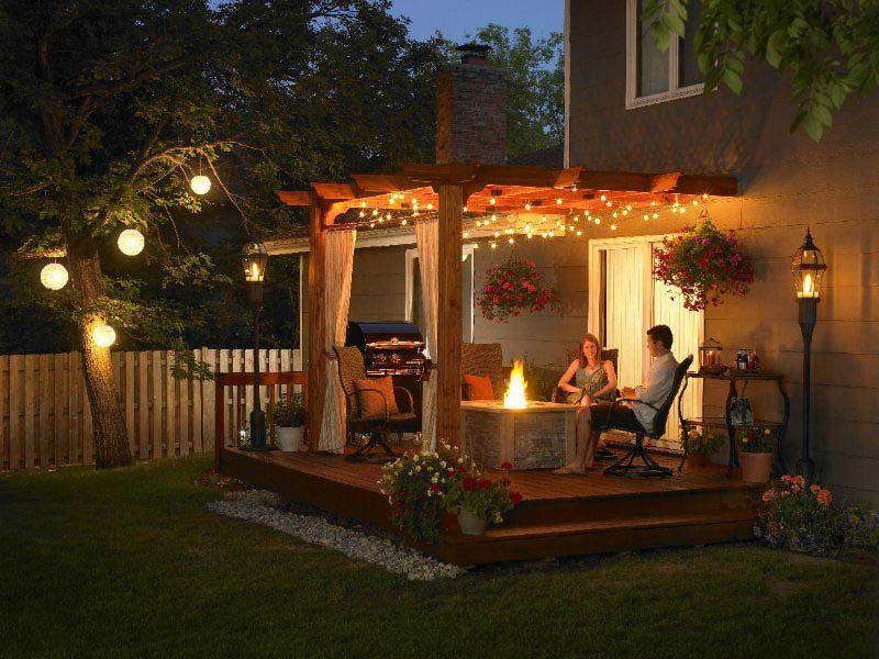 Backyard · Outdoor Pergola Lighting Ideas