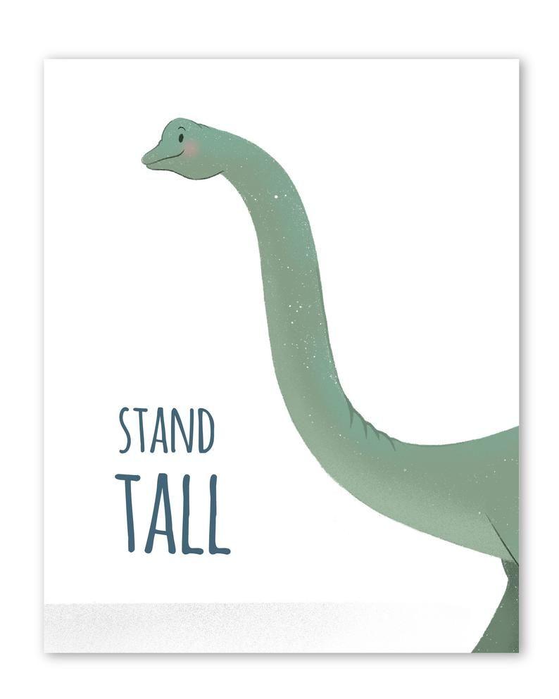 Set of 6 Dinosaur nursery prints, nursery wall art, dinosaur decor, boys room wall art, kids room decor, dinosaur art, inspirational text
