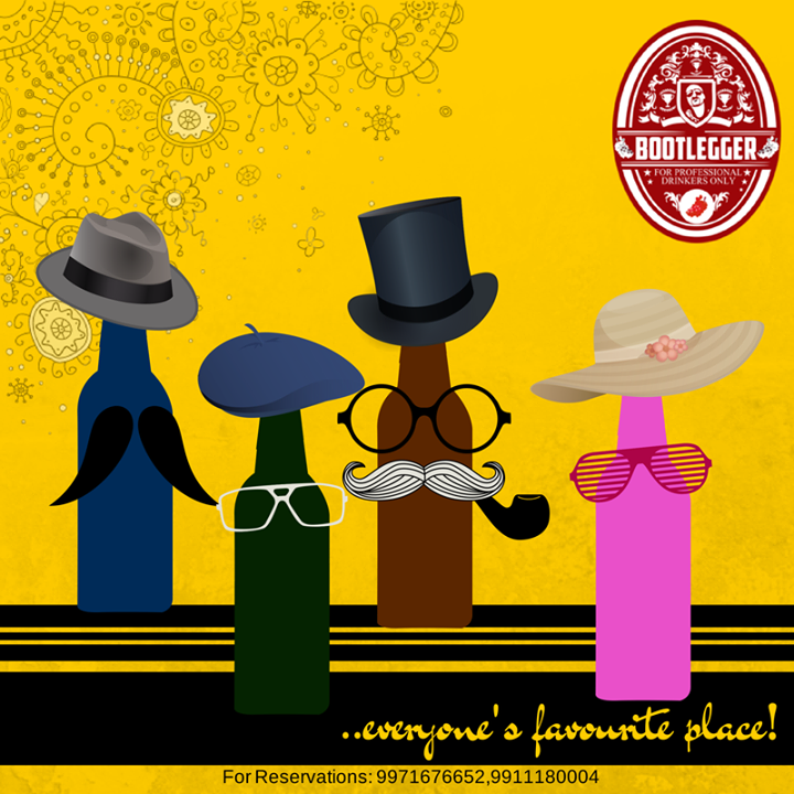 We love the way you all love us!!   Bootlegger Hauz Khas Village - Buy more, save more & party hard.