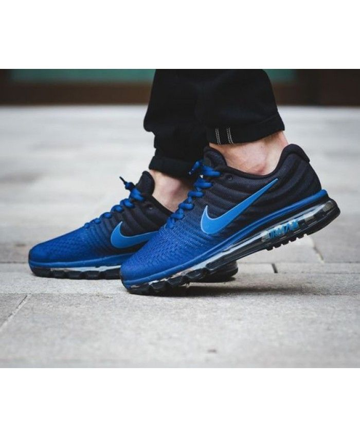 new arrival 3d74c 223c2 Nike Air Max 2017 Deep Royal Blue Black Hyper Cobalt Men s Running Shoes
