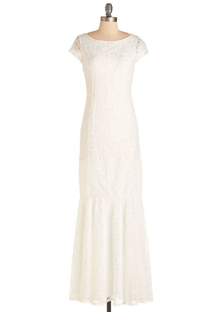 Velvet Rope Ready Dress In White Mod Retro Vintage Dresses Modcloth Com Mod Cloth Dresses White Vintage Dress Affordable Wedding Dresses [ 1304 x 913 Pixel ]