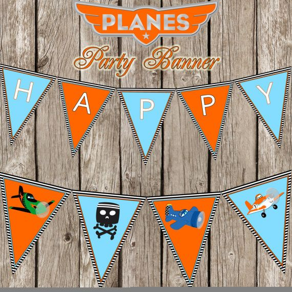 Disney Planes Happy Birthday Banner - Disney Planes Birthday Party - DIY Printable on Etsy, $7.00