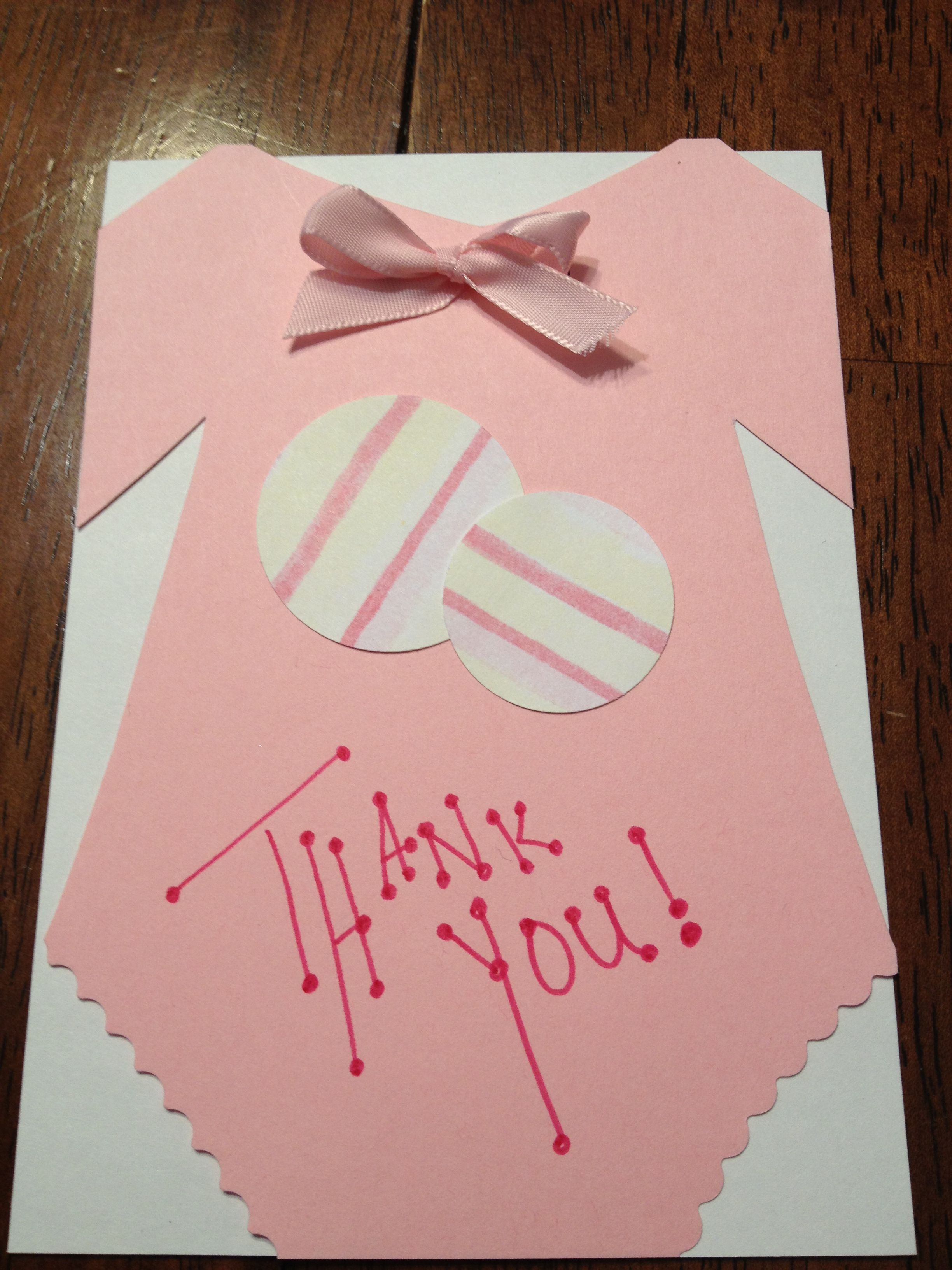 home made thank you cards for baby shower with images